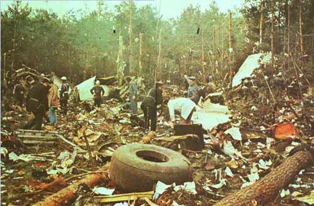1974: Türk Hava Yolları'nın DC-10 tipi 'Ankara' yolcu uçağı, Paris'te Orly Havalimanı yakınlarında düştü.