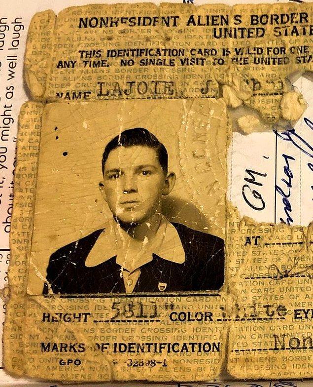 4. Yerleşik olmayan yabancı sınırı kimliği, 1943.