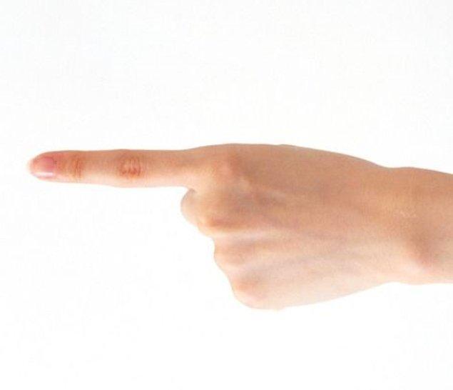 6. Uzun işaret parmağı: Kalp hastalıklarında yüksek risk.