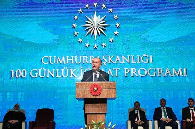 """Cumhurbaşkanı Erdoğan 3 Ağustos 2018'de """"Cumhurbaşkanlığı 100 Günlük İcraat Programı""""nda Emlak Bankası'nın tekrar faaliyete başlayacağını açıklamıştı."""