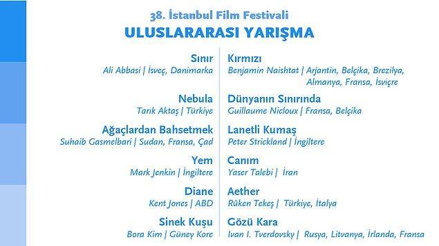 38. İstanbul Film Festivali Uluslararası Yarışma bölümünde 10 ülkeden 12 film yer alıyor 👇