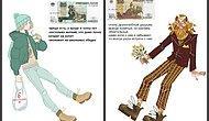 Червонец, полтинник, косарь: Как выглядели бы российские купюры, будь они людьми