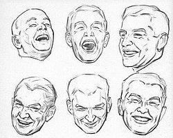 Как правило, лица отображают настроение рисующего