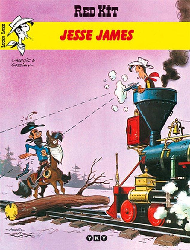 1969 yılında karikatür sanatçısı Morris ve yazar René Goscinny tarafından yaratılmış olan Red Kit kahramanı yeni macerasında Jesse James, Frank James ve Cole Younger ile karşılaşır.