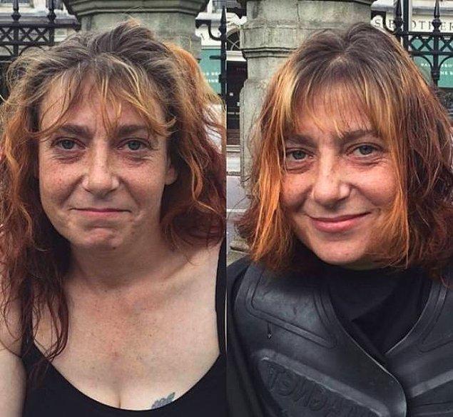 Британские бездомные у парикмахера, или Как свежая стрижка меняет лицо человека: 23 фото