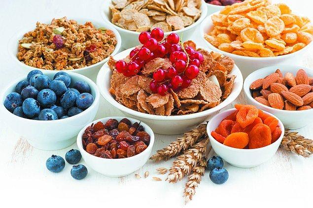 7. Daha fazla lifli gıdalar tüketin.
