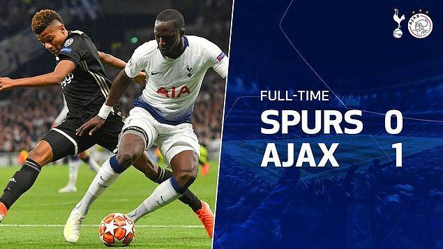 Şampiyonlar Ligi yarı final ilk maçında Ajax, deplasmanda Tottenham'ı 1-0 mağlup ederek kendi evine avantajlı bir skorla dönmüştü.