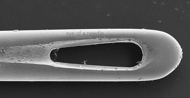 İğne deliğinde bir nano heykel;