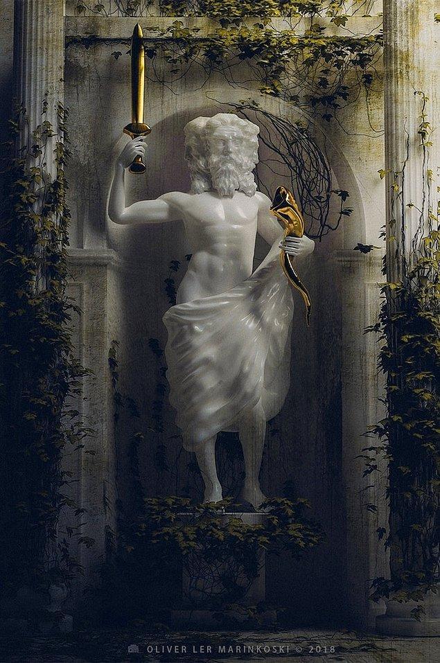 Древний мир+ современность: Скульптор создал образы мифологических героев с современной атрибутикой
