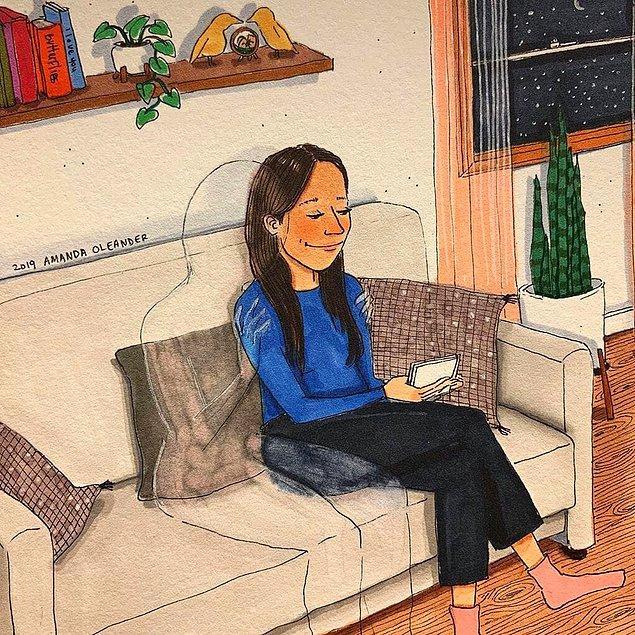 Теплые объятия и романтика на кухне: Карикатуры о нежностях от американской художницы