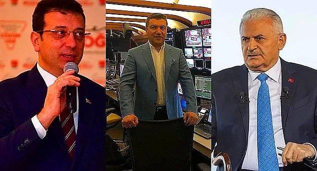 İstanbul Büyükşehir Belediyesi Başkanlığı için yarışan Ekrem İmamoğlu ve Binali Yıldırım, gazeteci İsmail Küçükkaya'nın moderatörlüğünü yaptığı ortak TV yayınında bir araya geldi.