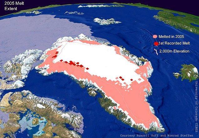 Öncelikle geçtiğimiz haftanın sadece bir günü içerisinde Grönland'da 1 milyar tondan fazla buzulun tamamen eridiğini söyleyerek başlayalım.