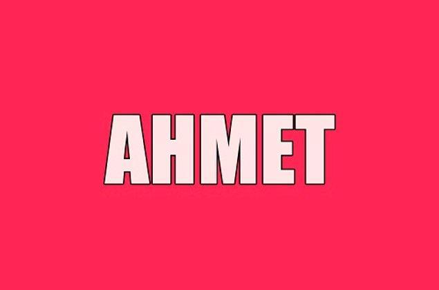 Sana gizliden gizliye aşık olan kişinin adı Ahmet!