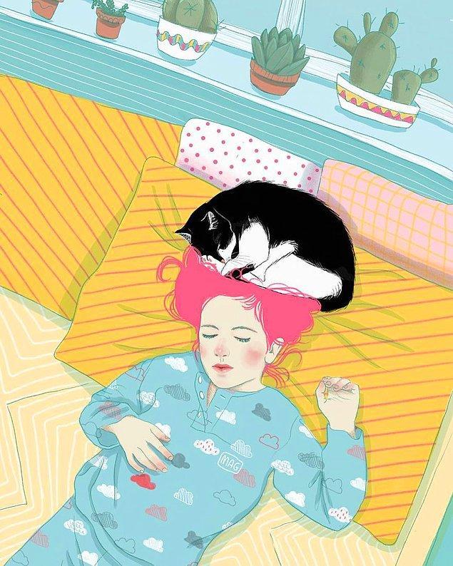 Итальянский иллюстратор изобразил котейкины повадки, объясняющие всю силу очарования усатых-полосатых