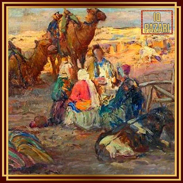 5. 1878-1945 yılları arasında yaşamış Sami Yetik'in Anadolu'da Köylüler tablosu, resim tarihimizde özel bir yere sahip.