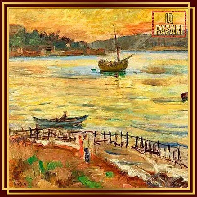 8. İlk Türk kadın ressamlardan Güzin Duran'ın İstanbul Boğazı tablosu bugün bile bir şaheserdir.