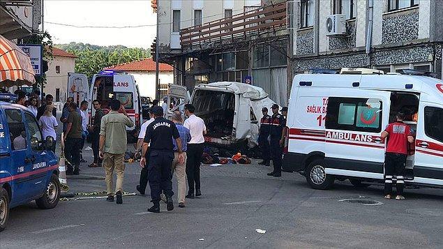 Olay, Edirne'nin Yunanistan sınırındaki Meriç ilçesinde bugün saat 04.45 sıralarında meydana geldi.