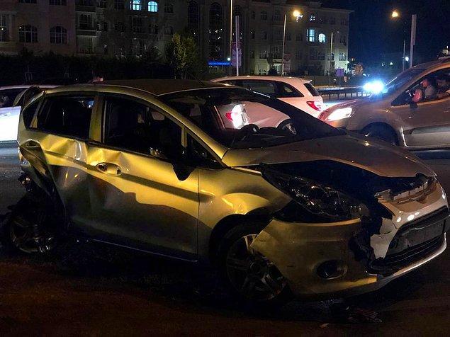 8 aracın birbirine girdiği kazada 7 kişi yaralandı. Şans eseri can kaybı yaşanmadı.