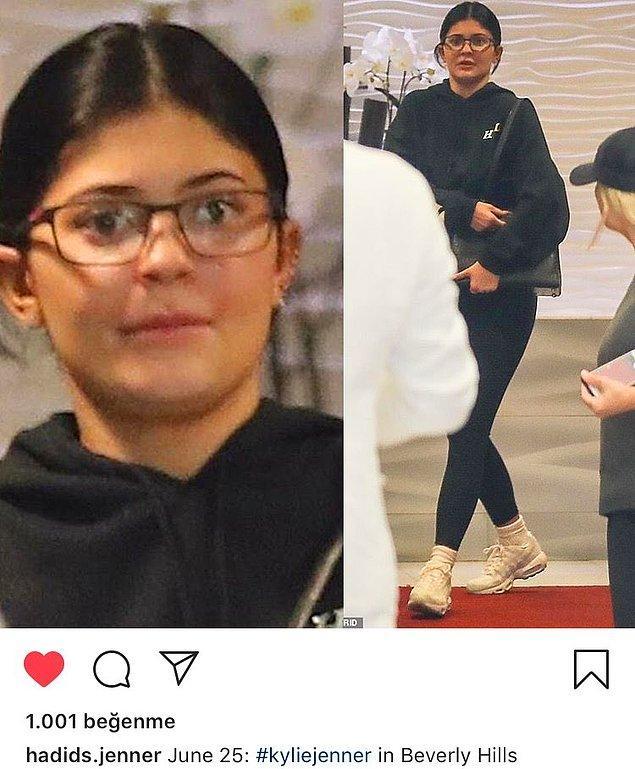 14. Makyajsız Kylie Jenner'ı görenler gözlerine inanamadı...