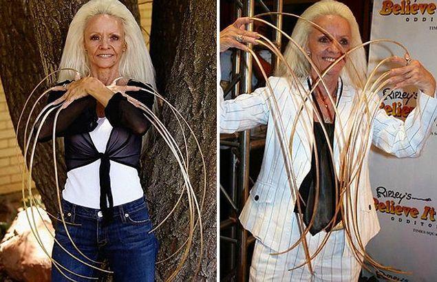 Ногти длиной 8,5 метров, 9 тысяч пирсингов, или Женщины, от рекордов которых вы будете в шоке