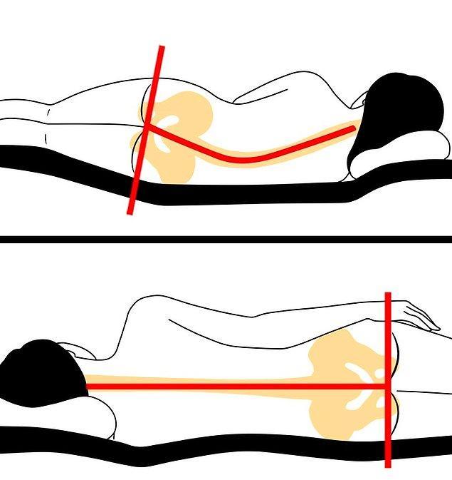 9. Yatağınız ve vücudunuz arasında kalan boşluklara yastık ve battaniye kullanın.