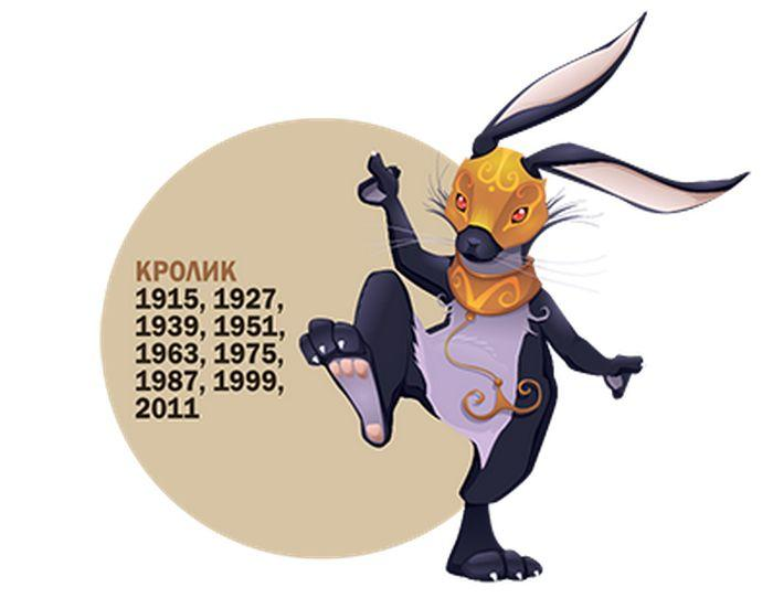 Кролик знак зодиака картинка