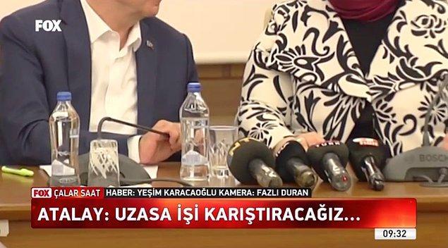 Atalay'ın bu sözleri söylerken mikrofonu eliyle kapattığı görülüyordu.