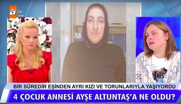 Annesini bulmak için Müge Anlı'ya katılan Fadime, annesinin teyzesinin oğlu olan Mehmet Altuntaş'tan şüphelendiğini söyledi.