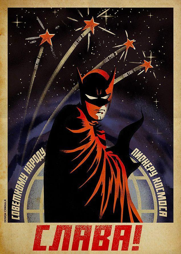 Сочетать несочетаемое: 9 советских плакатов с героями комиксов на них