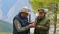 Видео о том, как Путин и Шойга сходили в тайгу за грибами