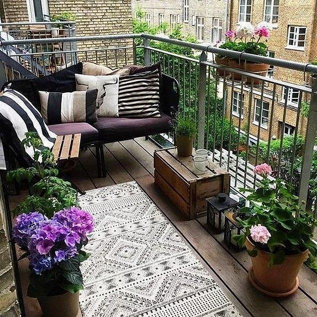 16. Balkon zeminini kaplatmayı düşündünüz mü hiç?