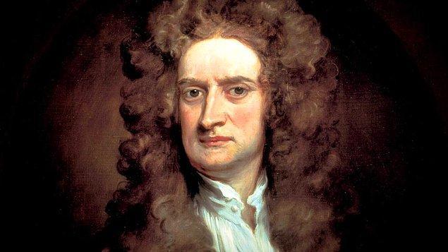 6. Isaac Newton'ın kafasına elma düşmedi.