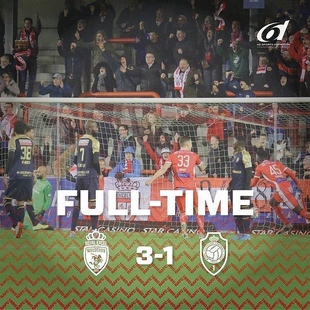 Milli kalecimiz Sinan Bolat, Royal Antwerp'in Mouscron'a 3-1 yenildiği maçta 90 dakika kaleyi korudu ve mağlubiyete engel olamadı.