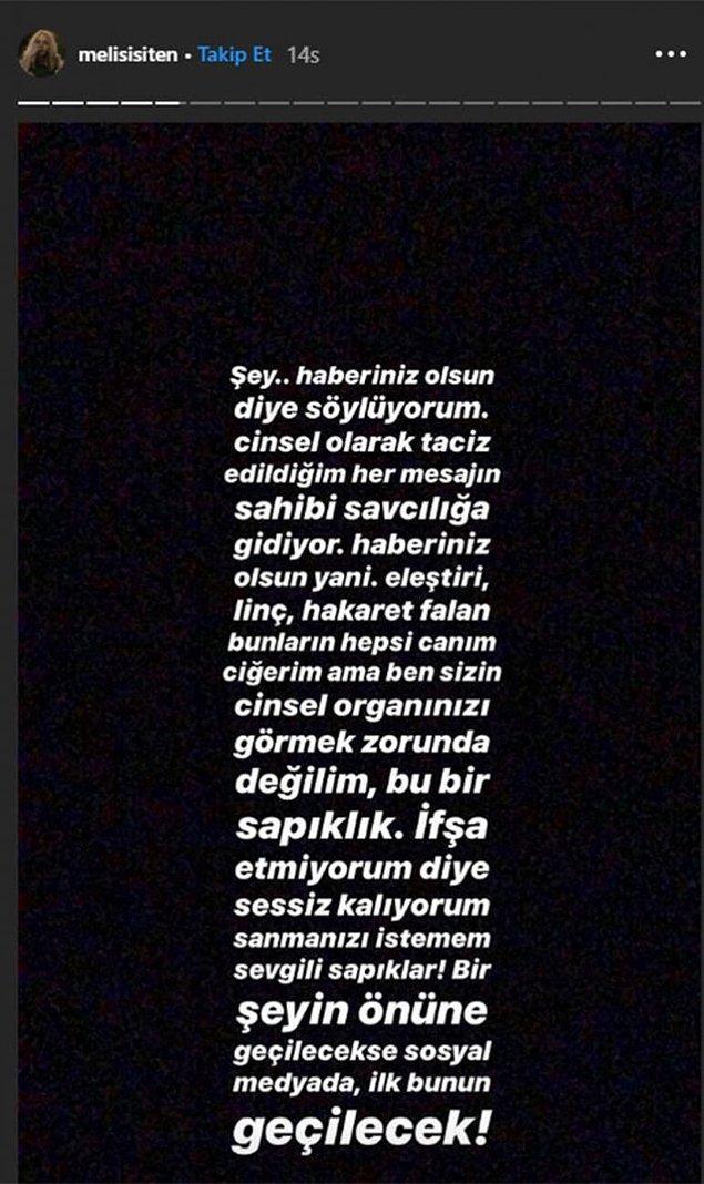 Geçtiğimiz günlerde Uraz Kaygılaroğlu'nun eski eşi Melis İşiten de sosyal medya üzerinden taciz edildiğini söylemişti.