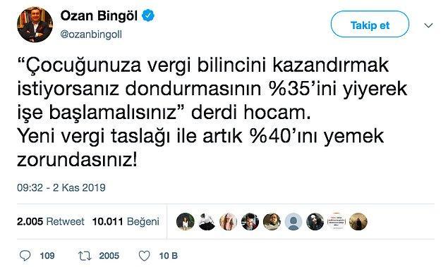 15. Hele ÖTV de eklendi mi bir dondurma da kendine ısmarlatmak şart.