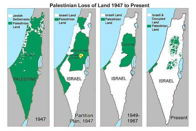 1947 - Birleşmiş Milletler, Araplar'ın şiddetli muhalefetine karşın, Filistin'in bölünmesini ve bağımsız bir İsrail Devleti kurulmasını kararlaştırdı.