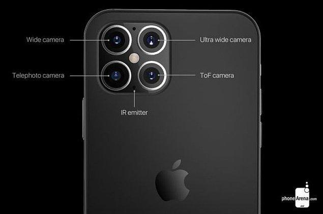Kameraya gelecek olursak, iPhone 12'nin de tıpkı iPhone 11'lerde olduğu kare bir tasarıma sahip olarak geleceği düşünülüyor.