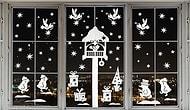 Украшаем дом: красивые трафареты на окна к Новому году