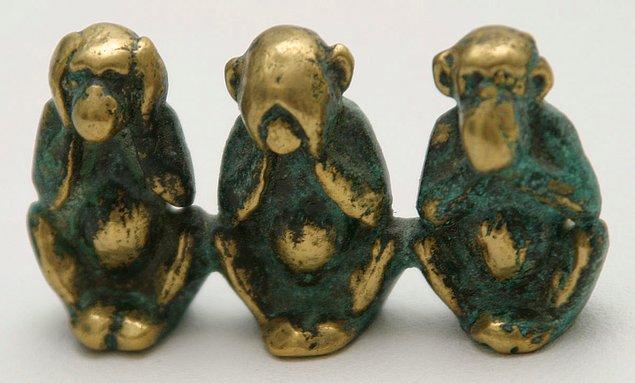 Üç Maymun, Hindistan'dan yola çıkarak dünyaya yayıldı...