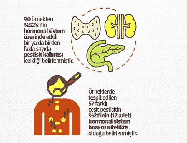 Yarısı hormonal sistemi etkiliyor