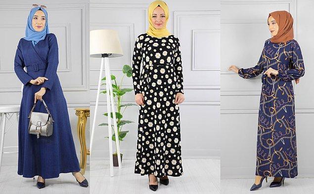 Günlük Kullanacak Şık Elbise Modelleri