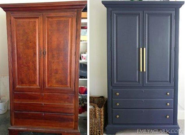 4. Kolayca yapacağınız boyama işleminden sonra yıllardır kullandığınız mobilyalarınız sıfır gibi olacaktır.