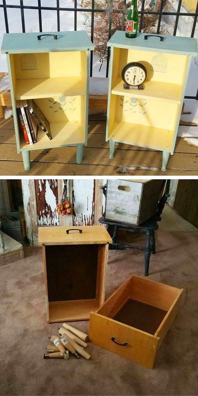 10. Örneğin, çekmeceleri küçük raflara dönüştürebilirsiniz.