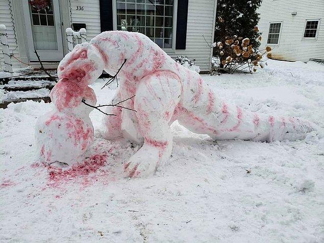 """2. """"Komşum kardan dinozor yaptı."""""""