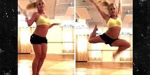 Бритни Спирс сломала ногу во время танца