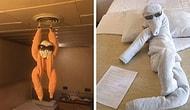 30 оригинальных творений из полотенец, которые создают горничные в отелях