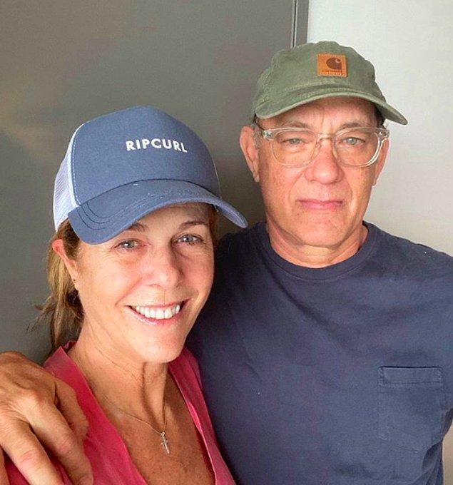 16. Tom Hanks ile eşi Rita Wilson, koronavirüse yakalandı!
