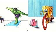 15 иллюстраций, рассказывающих, как популярные персонажи проводят время во время карантина