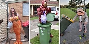 30 австралийцев, которые вырядились в свои лучшие наряды, когда поняли, что смогут выходить на улицу лишь для того, чтобы вынести мусор