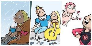 Повседневные трудности девушек в забавных комиксах Анастасии Ивановой